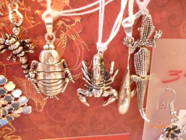 Kettenanhänger, silber, Frosch, Skorpion,...