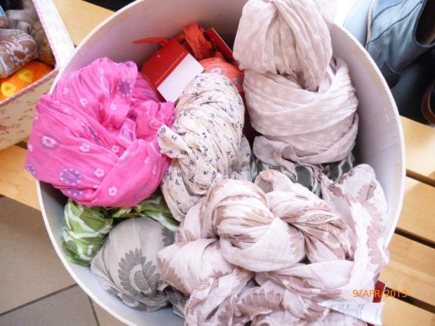 Tücher aus Seide-Baumwolle