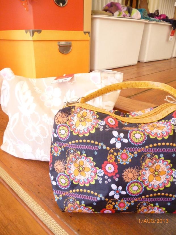 bunte Stofftaschen