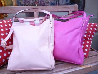 Neue Taschen in pink und rose, 19,90