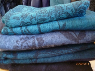 Tücher, blau und petrol