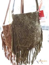 Wildledertaschen, neu mit Fransen